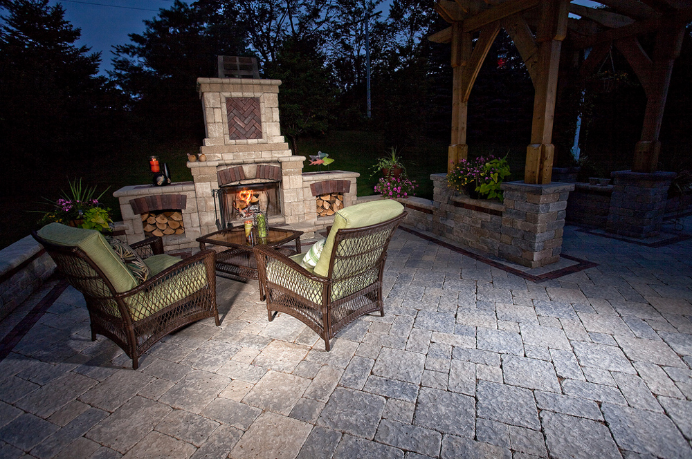 Outdoor Fireplace Firepit Clifton Park Ny Pearl